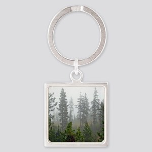 Misty forest Square Keychain