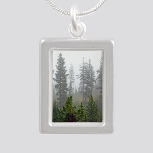 Misty forest Silver Portrait Necklace