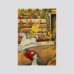 Georges Seurat Circus Rectangle Magnet