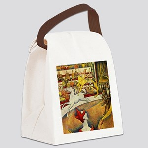 Georges Seurat Circus Canvas Lunch Bag