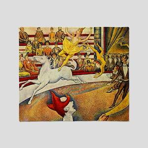 Georges Seurat Circus Throw Blanket