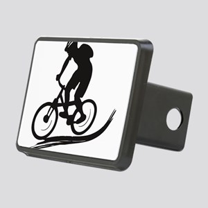 biker mtb mountain bike cy Rectangular Hitch Cover