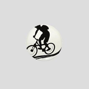biker mtb mountain bike cycle downhill Mini Button