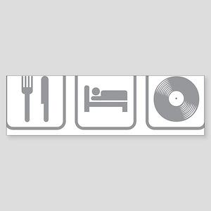 EatSleepMusic01C Sticker (Bumper)