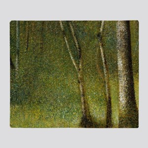 The Forest at Pontaubert Throw Blanket