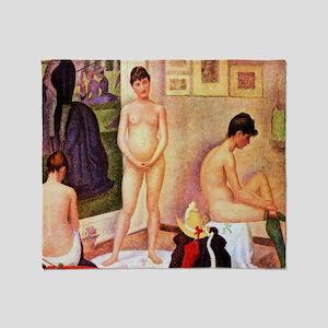 Georges Seurat The Models Throw Blanket