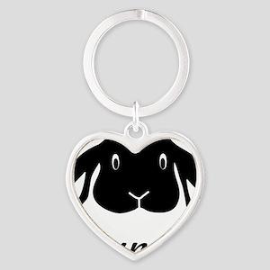 bunny hare rabbit cute Heart Keychain