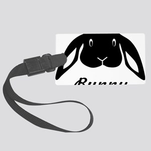 bunny hare rabbit cute Large Luggage Tag
