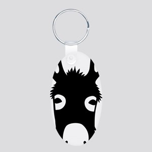 donkey mule horse ass jacka Aluminum Oval Keychain