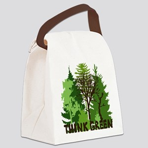think green save nature earth for Canvas Lunch Bag