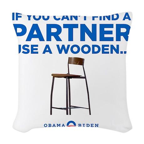 Obama Biden 2012 Woven Throw Pillow
