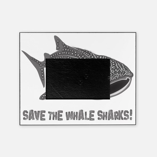whale shark diver diving scuba Picture Frame