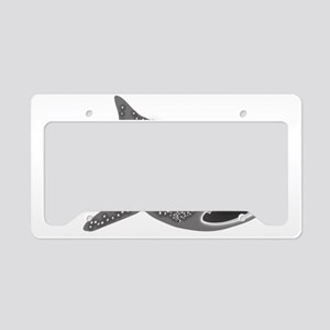 whale shark diver diving scub License Plate Holder