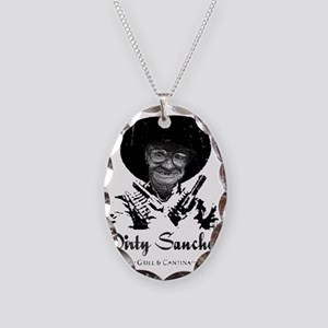 dirty sanchez 2 Necklace Oval Charm
