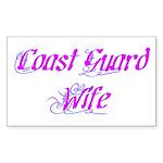 Coast Guard Wife ver2 Rectangle Sticker