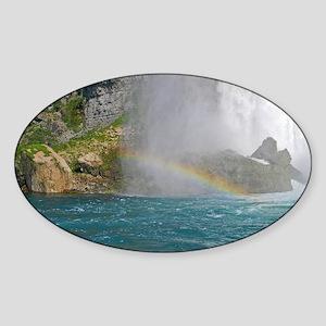 Rainbow Sticker (Oval)