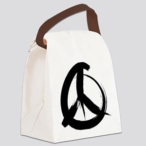 PeaaceSign2A Canvas Lunch Bag