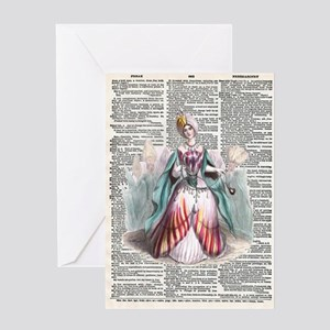 Vintage Tulip Dictionary Print Greeting Card