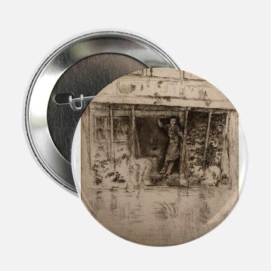 "Pierrot - Whistler - 1889 2.25"" Button"