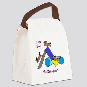 Keep Wagging Canvas Lunch Bag