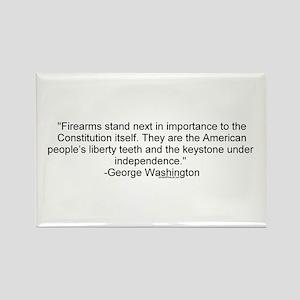 Washington - Firearms stand next Rectangle Magnet