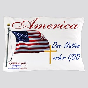 America One Nation Under God Yard Sign Pillow Case