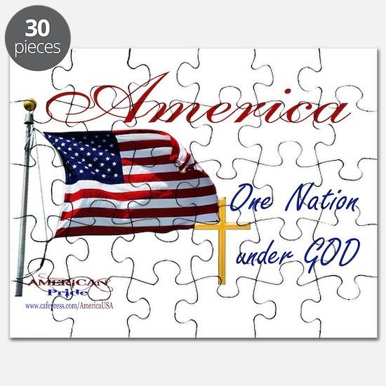 America One Nation Under God Yard Sign Puzzle