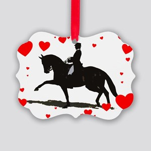 Dressage and Hearts Picture Ornament