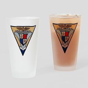 uss hancock patch transparent Drinking Glass
