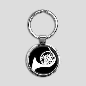 Horn Round Keychain