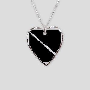 Flute Necklace Heart Charm