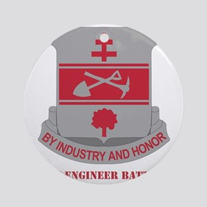 317thEngineerBn-text Round Ornament