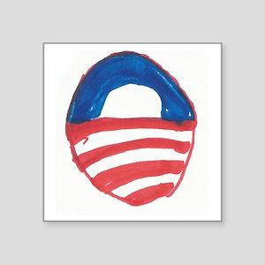 """Obama O Square Sticker 3"""" x 3"""""""