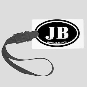 JB.Jacksonville Beach oval.bl.d Large Luggage Tag