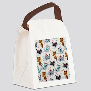 Cute Playful Kittens Canvas Lunch Bag
