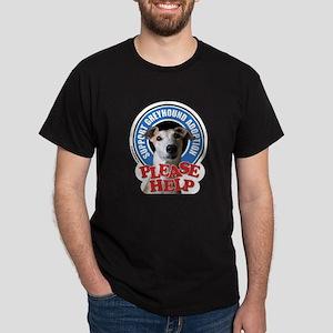Support Greyhound Adoption Dark T-Shirt