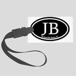 JB.Jacksonville Beach oval.bl.m Large Luggage Tag