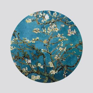 Blossoming Almond Tree, Vincent van Round Ornament