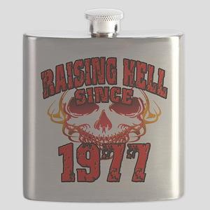 Raising Hell since 1977 Flask