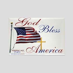 God Bless America yard sign Rectangle Magnet