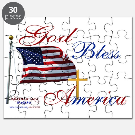 God Bless America yard sign Puzzle