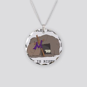 Spoiler Alert:  He Is Risen! Necklace Circle Charm