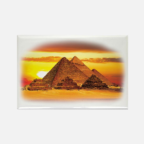 The Pyramids at Giza Rectangle Magnet