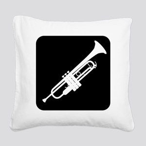 Trumpet Square Canvas Pillow