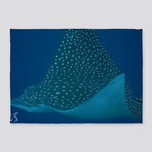 Spotted Eagle Ray 23 x 35 Print 5'x7'Area Rug