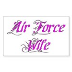 Air Force Wife Rectangle Sticker