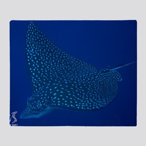 Spotted Eagle Ray 23 x 35 Print Throw Blanket