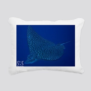 Spotted Eagle Ray 23 x 3 Rectangular Canvas Pillow