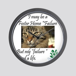 Foster Home Failures save lives Wall Clock