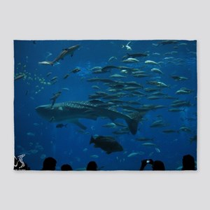 Whale Shark 23 x 35 Print 5'x7'Area Rug